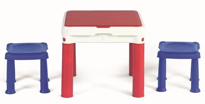 Set masuta tip Lego + 2 scaunele