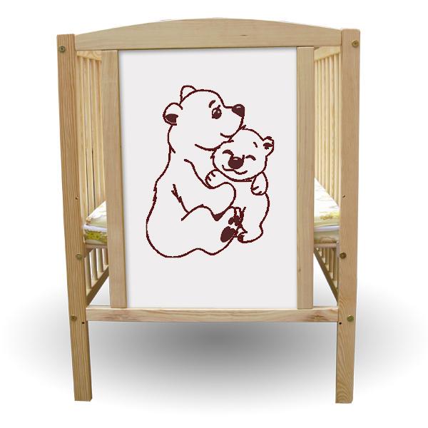 Patut copii 2 Ursuleti + Saltea Clasic - First Smile