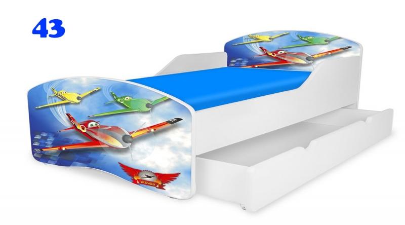 Patut Nobiko Small Rainbow 180x80 cu saltea+sertar