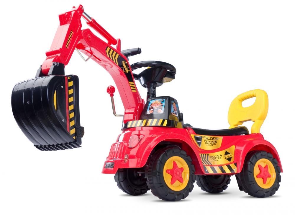 Excavator Ride-on Toyz Scoop Rosu