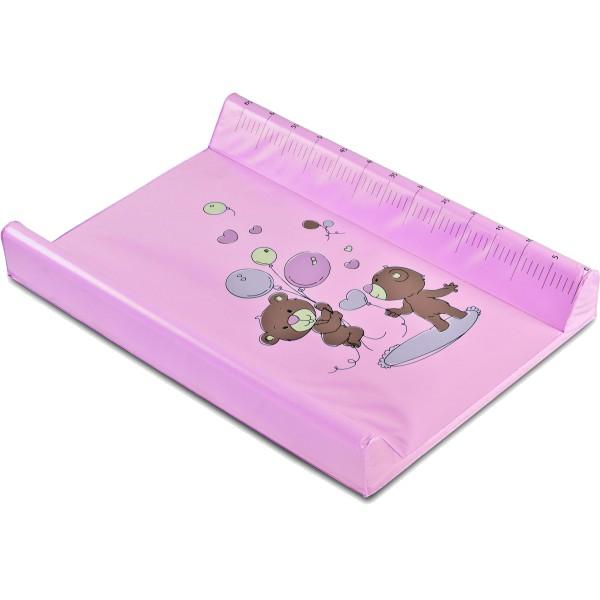 Saltea de infasat rigida 70x49 cm pink bears