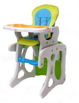 Scaun de masa Eat  Play Verde-Albastru