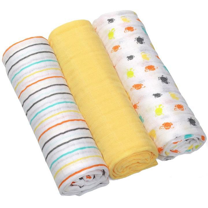 Scutece textile din bumbac set 3 buc Baby Ono 01
