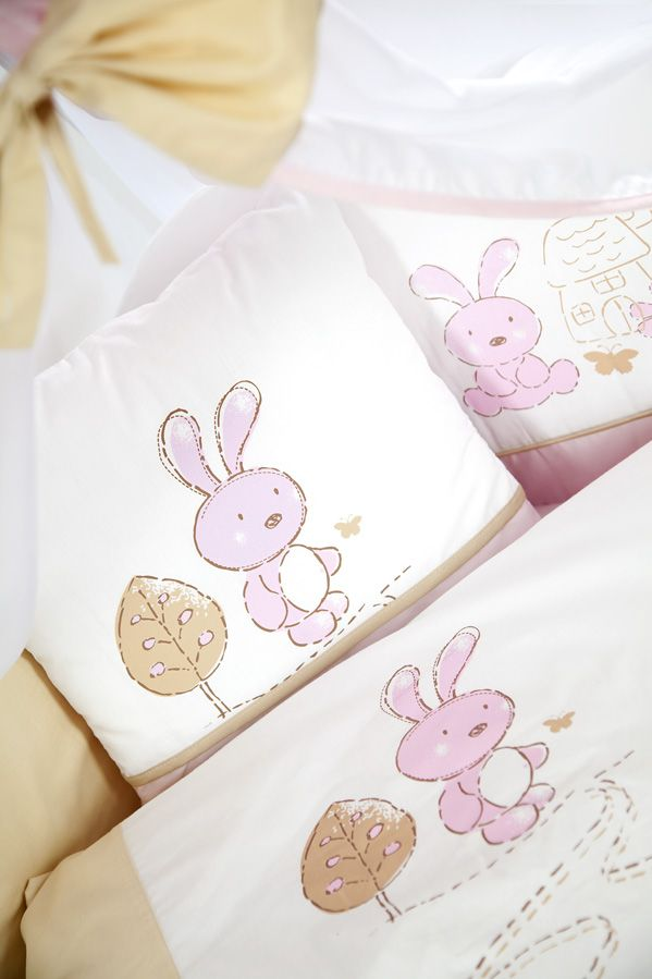 Set lenjerie 3 piese Little Bunny bej-pink Klups