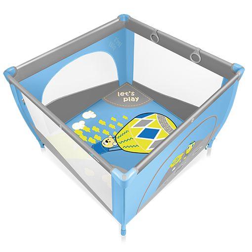 Tarc de joaca  Baby Design Play UP Blue cu inele ajutatoare