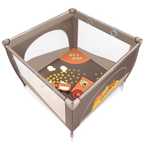 Tarc de joaca  Baby Design Play UP Brown cu inele ajutatoare