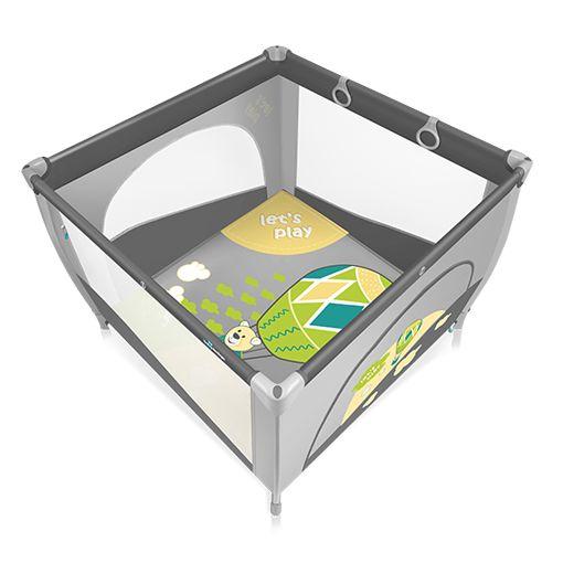 Tarc de joaca  Baby Design Play UP Grey cu inele ajutatoare