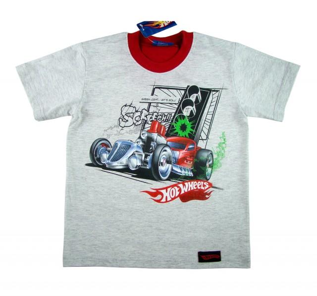 Tricou copii Hot Wheels, gri (Masuea 92 (1.5-2 ani))