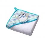 Prosop de baie pentru bebelusi cu capison 76x76 cm Terry 06