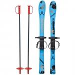 Skiuri copii 90 cm Marmat Albastru