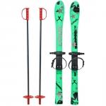 Skiuri copii 90 cm Marmat Verde