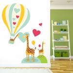 Sticker decorativ Girafe indragostite
