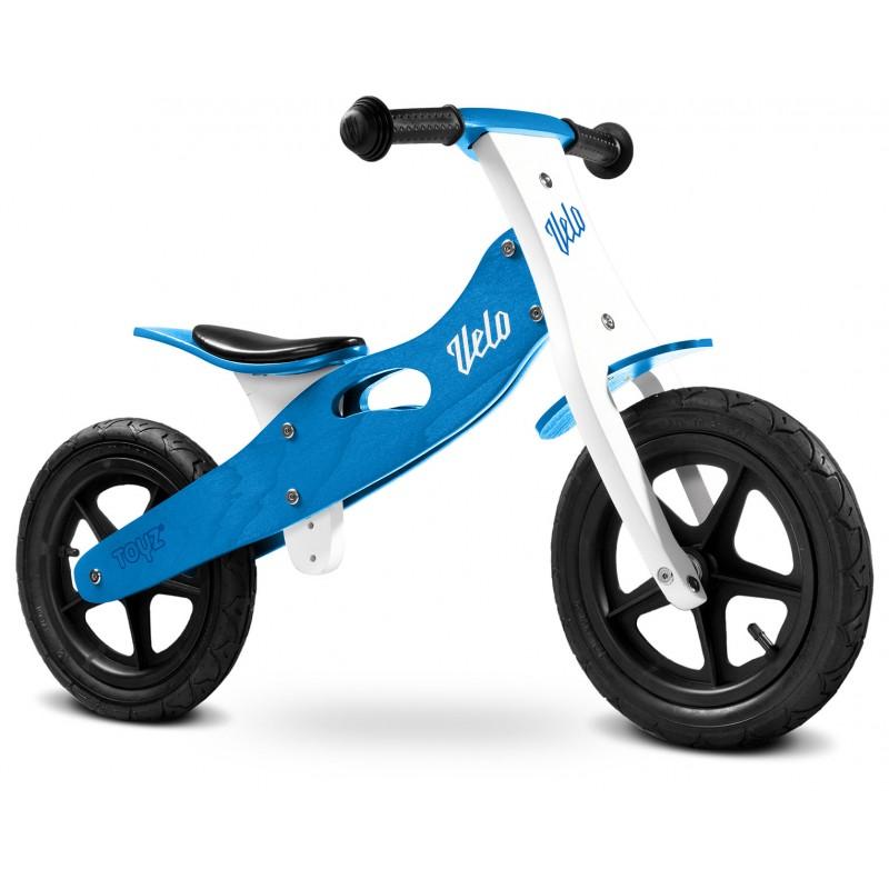 Bicicleta de lemn fara pedale Toyz Velo Blue