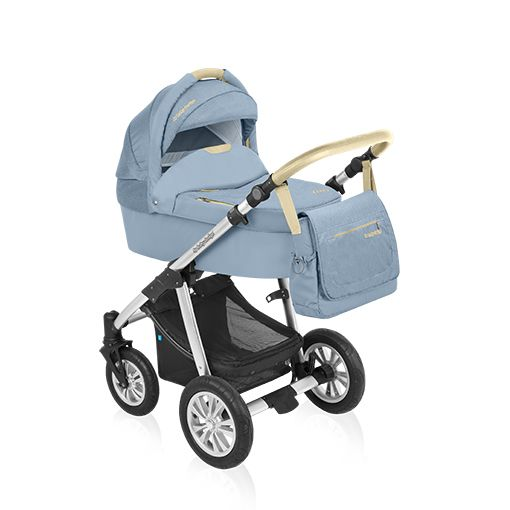 Carucior 2 in 1 Baby Design Dotty Denim Blue