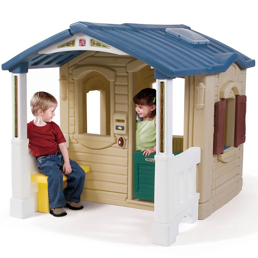 Casuta cu pridvor Naturally Playful Front Porch Playhouse imagine