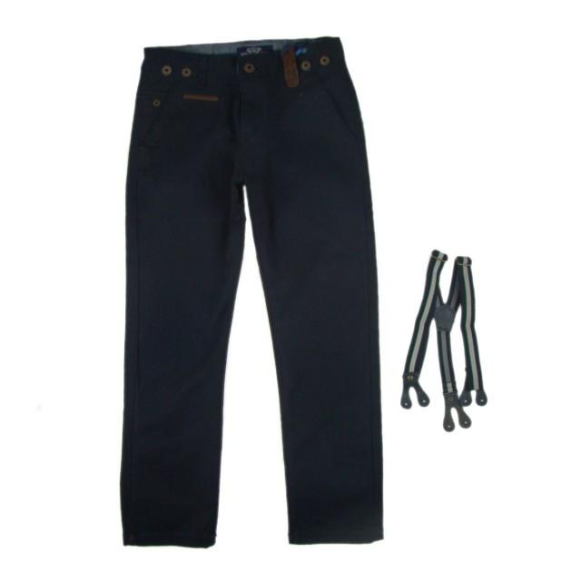 Pantaloni cu bretele baieti (Masura 128 (7-8 ani))