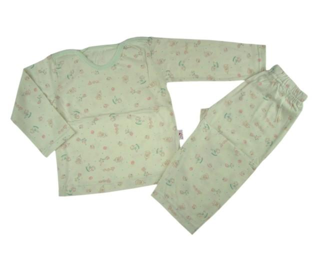 Pijama baietei Rombaby culoare verde pal (Masura 116 (5-6 ani))