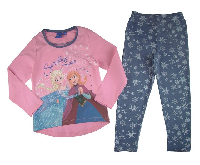 Pijama fetite Disney Ana si Elsa (MASURA 116 (5-6 ani))