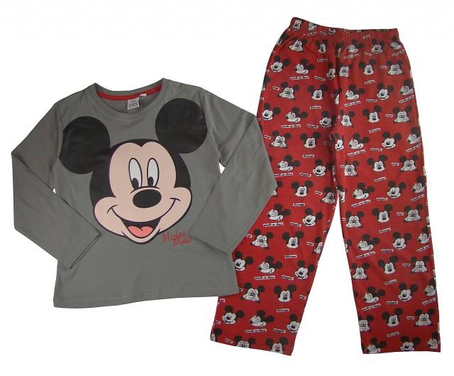 Pijama maneca lunga copii Mickey Mouse (Masura 128 (7-8 ani))