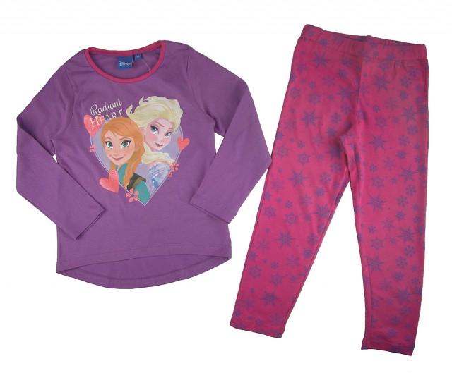 Pijama maneca lunga fetite Frozen (Masura 110 (4-5 ani))