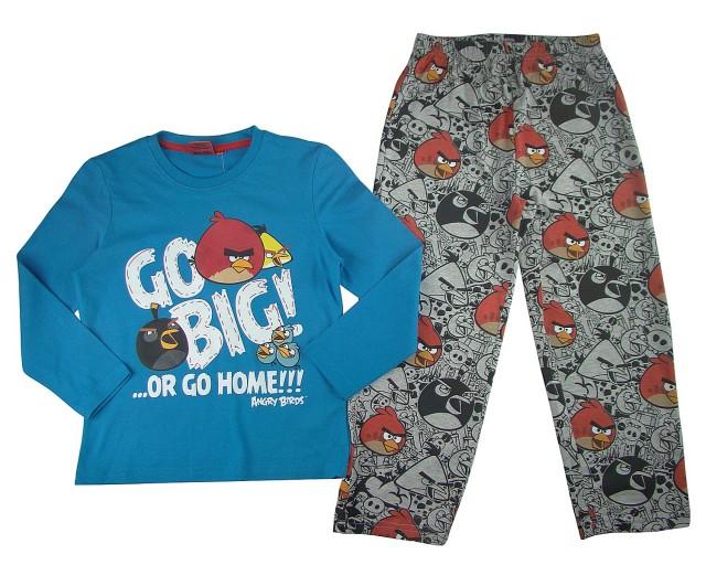 Pijamale copii maneca lunga Angry Birds (Masura 128 (7-8 ani))