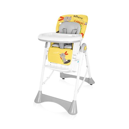 Scaun de masa Baby Design Pepe Yellow Bunny