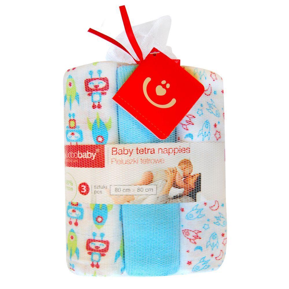 Scutece textile set 3 buc blue robotei Bobobaby
