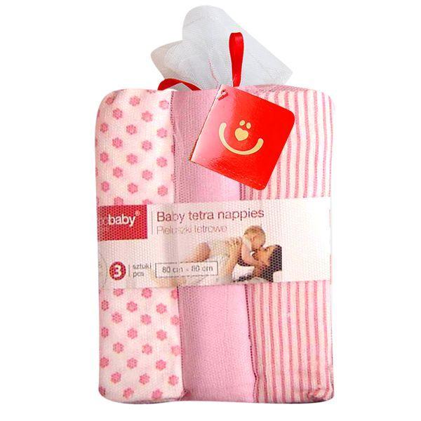 Scutece textile set 3 buc pink BoboBaby