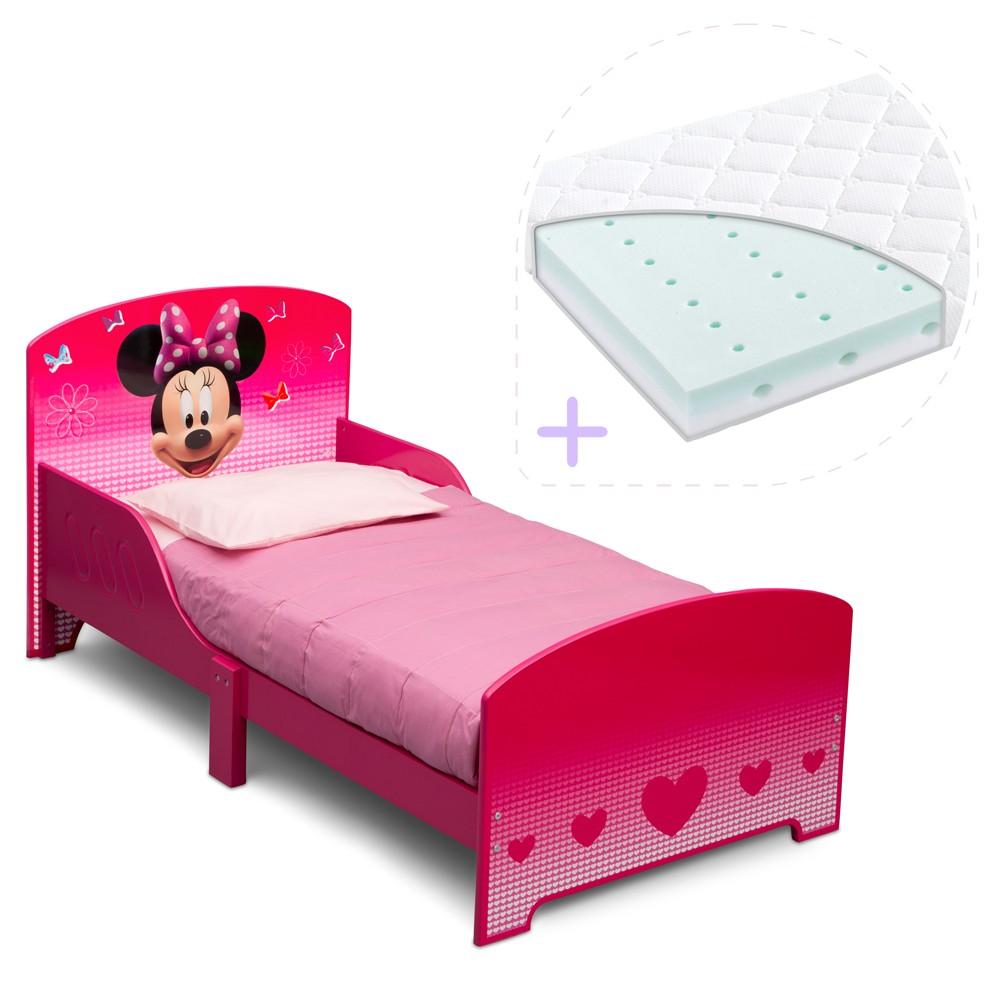 Set Pat Cu Cadru Din Lemn Disney Minnie Mouse Si S