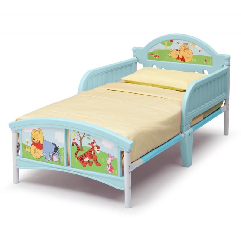 Set pat cu cadru metalic Disney Winnie the Pooh si saltea pentru patut Dreamily - 140 x 70 x 10 cm