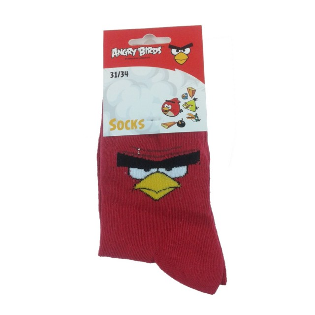 Sosete copii Angry Birds, grena (Masura 2730)