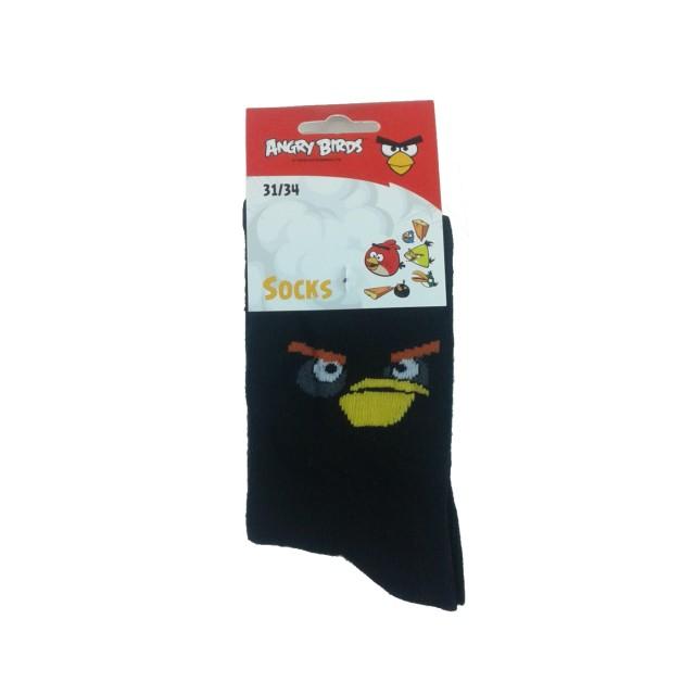 Sosete copii Angry Birds, negru (Masura 2730)