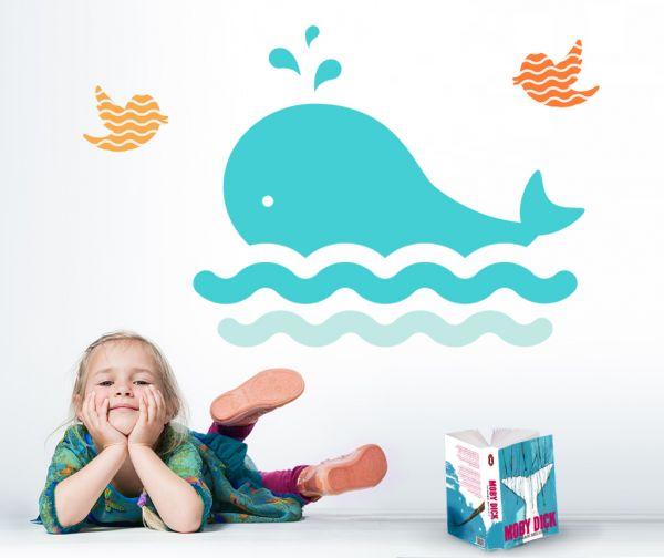 Sticker decorativ Cute Whale