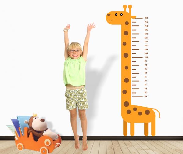 Sticker decorativ metru Giraffe
