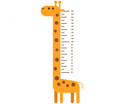 Sticker decorativ metru Giraffe