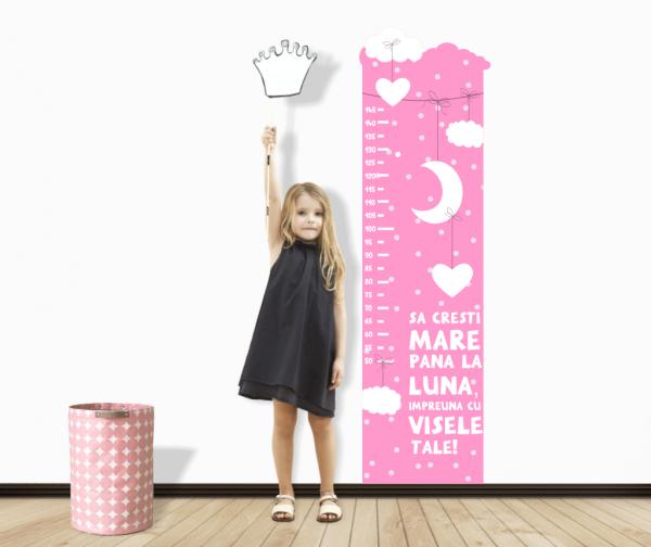 Sticker decorativ metru Girl Touches the Moon