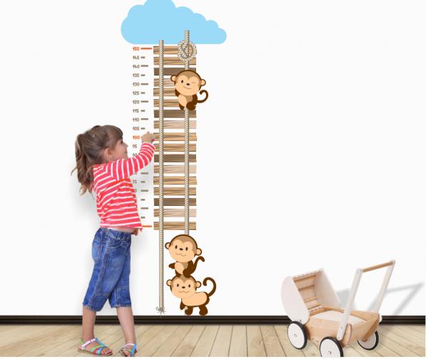 Sticker decorativ metru Monkeys