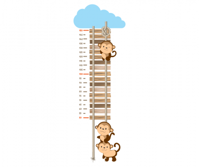 Sticker decorativ metru Monkeys