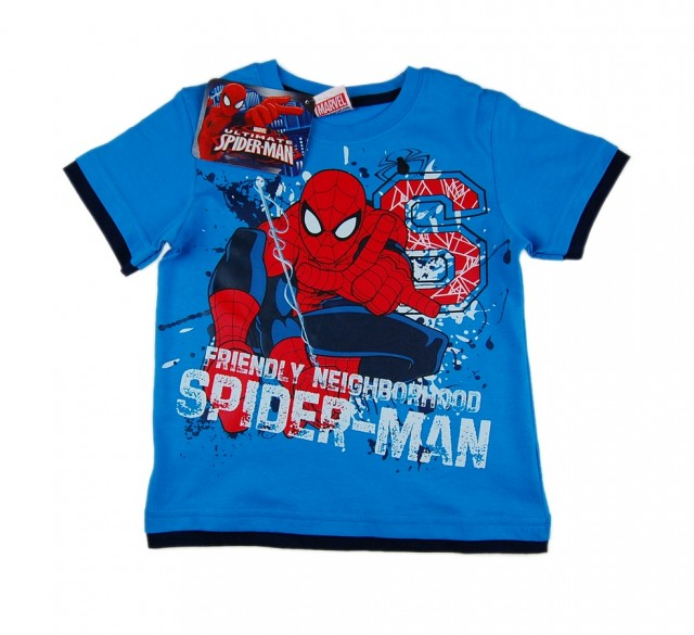 Tricou baieti Spiderman (Masura 134140 (910 ani))