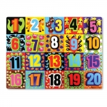 Puzzle lemn in relief Numere de la 1 la 20