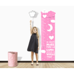 Sticker perete copii Girl Touches the Moon 50 x 173 cm