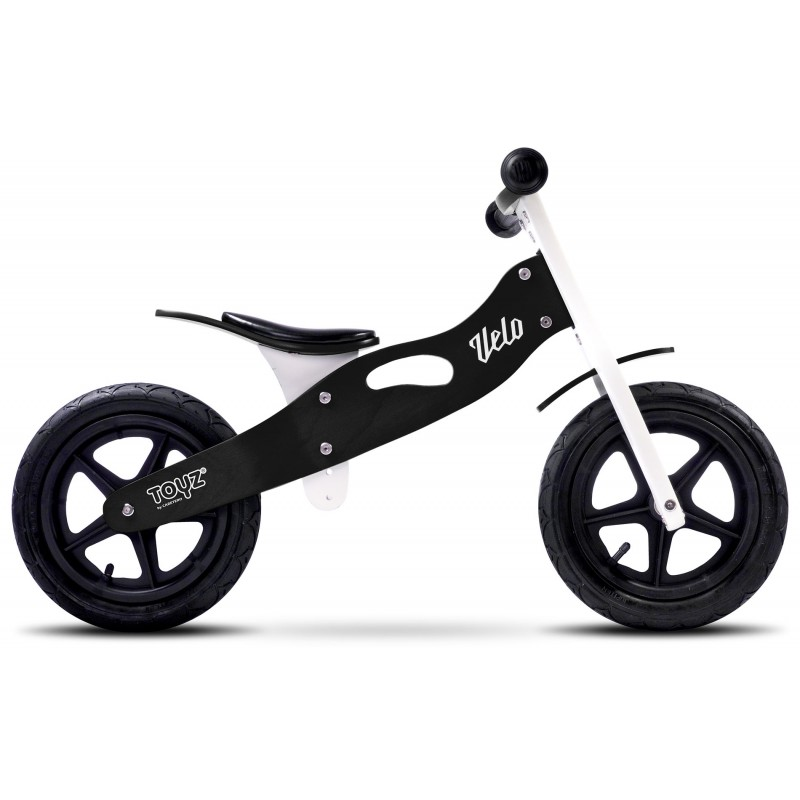 Bicicleta de lemn fara pedale Toyz Velo Black