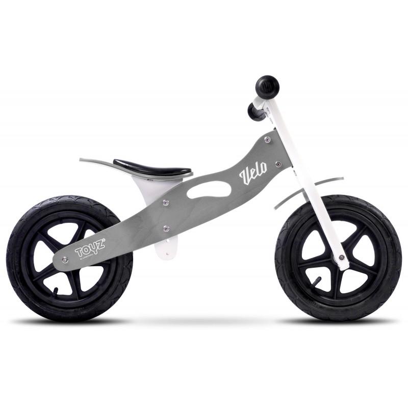 Bicicleta de lemn fara pedale Toyz Velo Grey