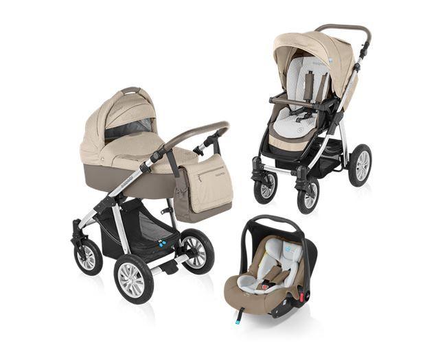 Carucior 3 in 1 Baby Design Dotty Beige