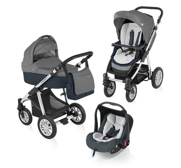 Carucior 3 in 1 Baby Design Dotty Graphite