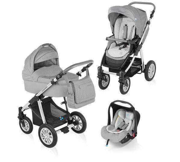 Carucior 3 in 1 Baby Design Dotty Grey