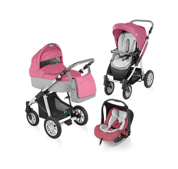 Carucior 3 in 1 Baby Design Dotty Pink