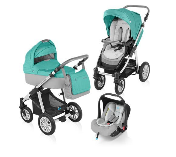 Carucior 3 in 1 Baby Design Dotty Turquoise