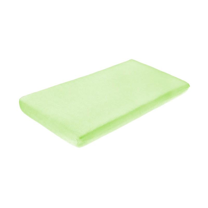Cearceaf de bumbac cu elastic 120x60 cm Green