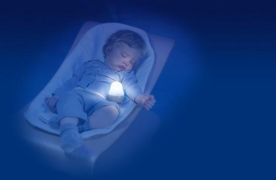 Lampa de veghe pentru copii si bebelusi Pabobo Super Nomade Lion cu LED imagine